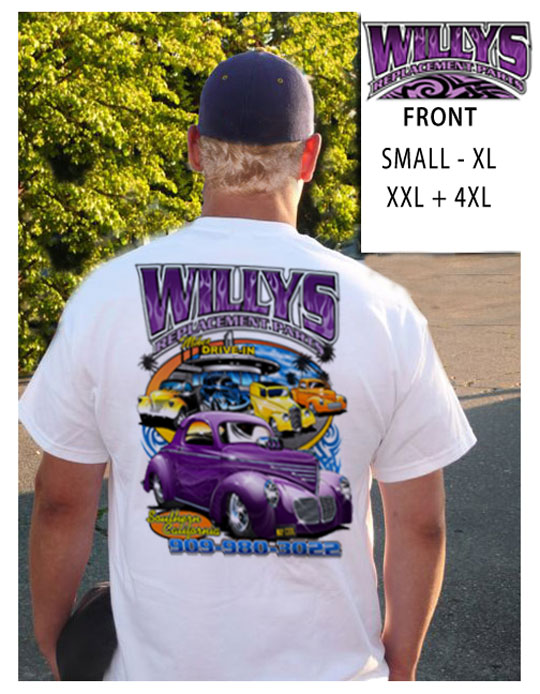 2008 Willys Replacement Parts TShirt